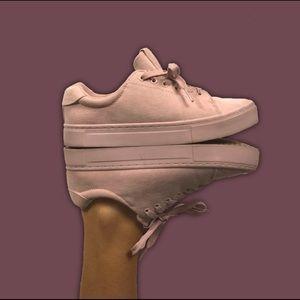 Millennial Pink Suede Monochrome Sneakers